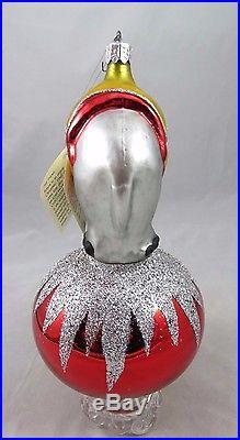 Christopher Radko Jumbo Circus Elephant Ball Glass Christmas Ornament 1990