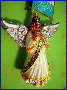 Christopher Radko KWANZA BLESSING angel with wings