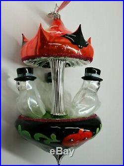 Christopher Radko Laved Italian Frightfully Formal Halloween Carousel Ornament