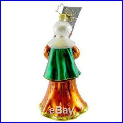 Christopher Radko MRS PILGRIM Blown Glass Ornament Thanksgiving Harvest