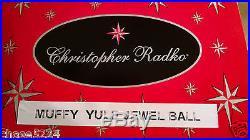 Christopher Radko MUFFY BEAR YULE JEWEL BALL Ornament Christmas Yule ELEGANT