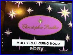 Christopher Radko MUFFY VANDERBEAR LITTLE RED RIDING HOOD Ornament CLOAK SHOES