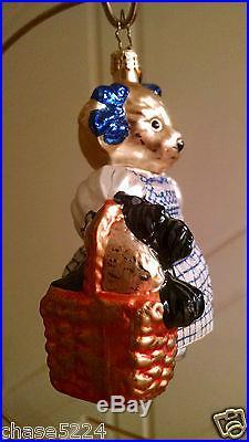 Christopher Radko MUFFY WITH SCOTTIE Ornament RARE retired vintage