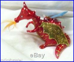 Christopher Radko MY OLE FLAME Red Dragon Italian Ornament New SALE