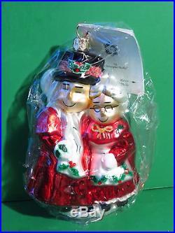 Christopher Radko Marshall Fields Uncle Mistletoe & Aunt Holly Ornament