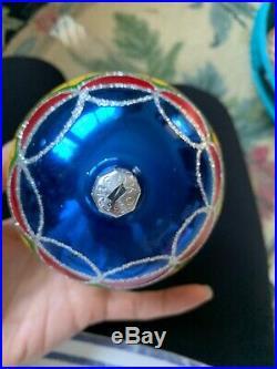 Christopher Radko Mission Ball Glass Christmas Ornament