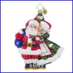 Christopher Radko Mr. & Mrs. Mistletoe Santa Claus Christmas Ornament