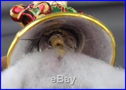 Christopher Radko Muffy Jingle Belle 2004 Ornament 3010677 Teddy Bear Bell Green