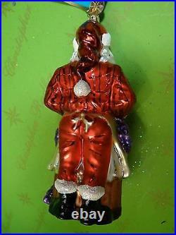 Christopher Radko Napa Nicholas Glass Ornament