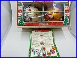 Christopher Radko Nicholas Gardens 02-0138-0 Fantasia Santa Two Ornament w Box