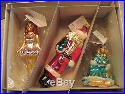 Christopher Radko Nutcracker Suite II and III Glass Christmas Ornaments