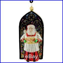 Christopher Radko O' HOLY LIGHT Blown Glass Ornament Christmas Santa