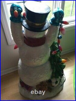 Christopher Radko, Original, Huge Statue, Snowman, Shiny Brite Lights, Ornament, 3d
