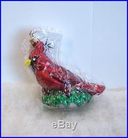 Christopher Radko Ornament Christmas Cardinal #99-203-0 Bird NWT/SEALED (R36)