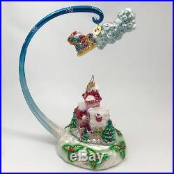 Christopher Radko Ornament Midnight Magic Christmas Holiday Blown Glass 02-CB-5