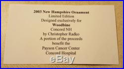 Christopher Radko Ornament RARE New Hampshire Old Man of the Mountain Cancer Bft