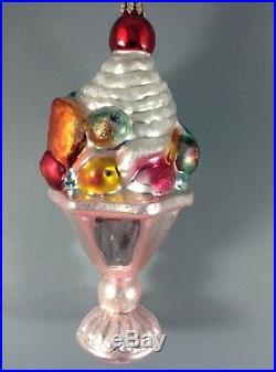 Christopher Radko Ornaments Tutti Fruiti 103830 Sundae Cherry Fruit