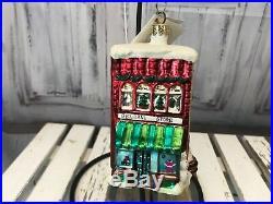 Christopher Radko Ornaments Village Set General Store Holiday Decoration Xmas