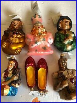 Christopher Radko Ornaments Wizard of Oz Collection, Set of 6