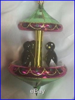 Christopher Radko PENGUIN TUXEDO CAROUSEL Italian Ornament 94-245-0 1994