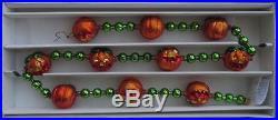 Christopher Radko PUMPKIN GARLAND NEW IN BOX RETIRED RARE Halloween 1998 98