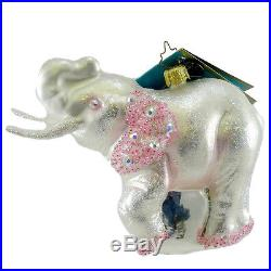 Christopher Radko QUEEN OF THE RINGS Blown Glass Ornament Elephant Circus