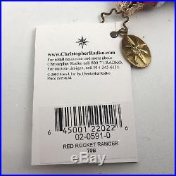 Christopher Radko RED ROCKET RACER Christmas Tree Ornament 0205910