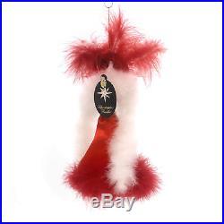 Christopher Radko RED TO TOE Glass Ornament Italian Drag Showgirl