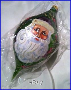 Christopher Radko REGENCY SANTA Ornament 1997 Large Christmas Drop New Sealed