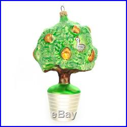 Christopher Radko Rare 12 Days of Christmas Ornament Partridge In A Pear Tree