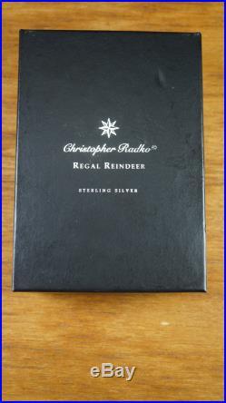 Christopher Radko Regal Reindeer Sterling Silver Christmas Ornament Pin