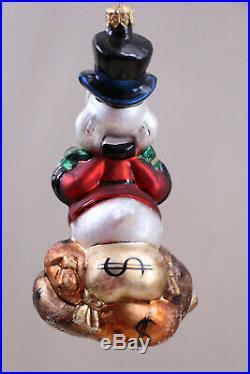 Christopher Radko Retired Disney Donald Duck Scrooge Mcduck Limited Ornament