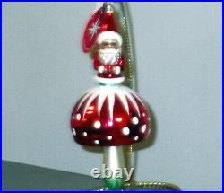 Christopher Radko SANTA'S SHROOM/Mushroom Christmas Ornament, New, 2005,1011734