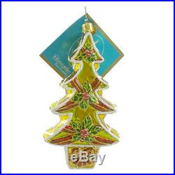 Christopher Radko SUGAR AND SPRUCE Blown Glass Ornament Christmas Tree Cookie
