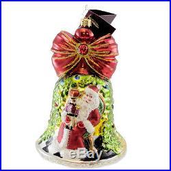 Christopher Radko SUITE CHIMES Blown Glass Ornament Bell Santa Nutcracker