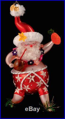 Christopher Radko Samba Santa Italian Hawaiian Santa Ornament 1013380