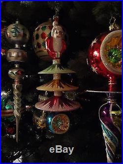 Christopher Radko Santa Tree Ornament Large