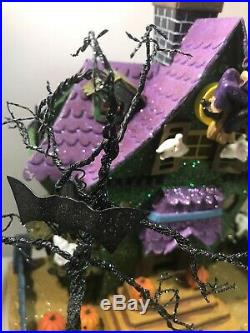 Christopher Radko Shiny Brite Halloween Haunted House Glitter Cardboard 10