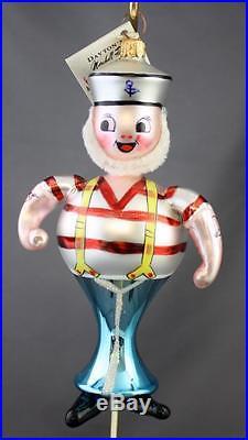 Christopher Radko Ship's Ahoy 1994 Italian Ornament 94-263-0 Sailor Suspenders