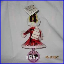 Christopher Radko Snow Girl 00-286-0 Italian Reflector 8.5 Xmas Ornament 2000