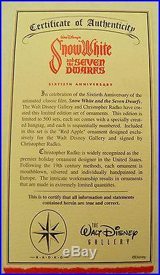 Christopher Radko Snow White Limited Edition Ornament Box Set 465/500 NIB LARGE