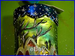 Christopher Radko Softly Snowfall Stocking Glass Ornament