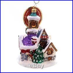 Christopher Radko St. Nicholas Lane Cottages & Houses Christmas Ornament