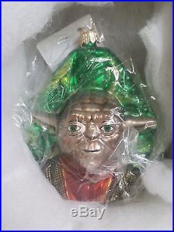 Christopher Radko Star Wars Ornaments Darth Vader Yoda Storm Trooper Unused