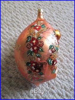 Christopher Radko Summer Dreams Ornament 1998 Girl with flower bouquet RARE
