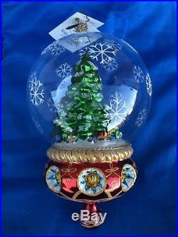 Christopher Radko Sumptuous Santa Snow Globe Style Ornament RARE