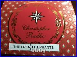 Christopher Radko THE FRENCH L EPHANTS 1997 Italian Ornament 97-437-0 BABAR