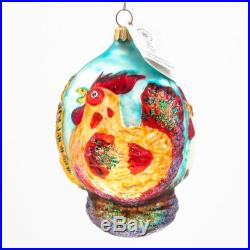 Christopher Radko Three French Hens Days of Christmas Tree Ornament Collectible