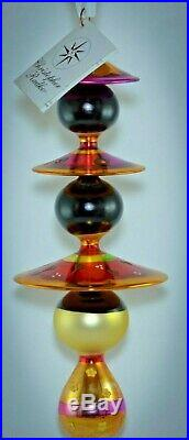 Christopher Radko Triple Ball Large Christmas Ornament ASIAN PEKING MAIDENS 2001