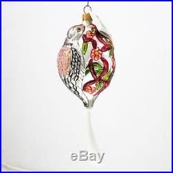 Christopher Radko Two Turtle Doves Days of Christmas Tree Ornament Collectible
